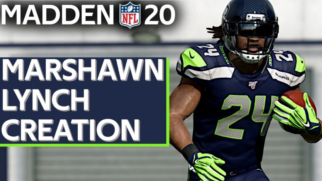 Madden 20 RB Marshawn Lynch Seattle Seahawks Creation PS4 | Xbox 1 | PC