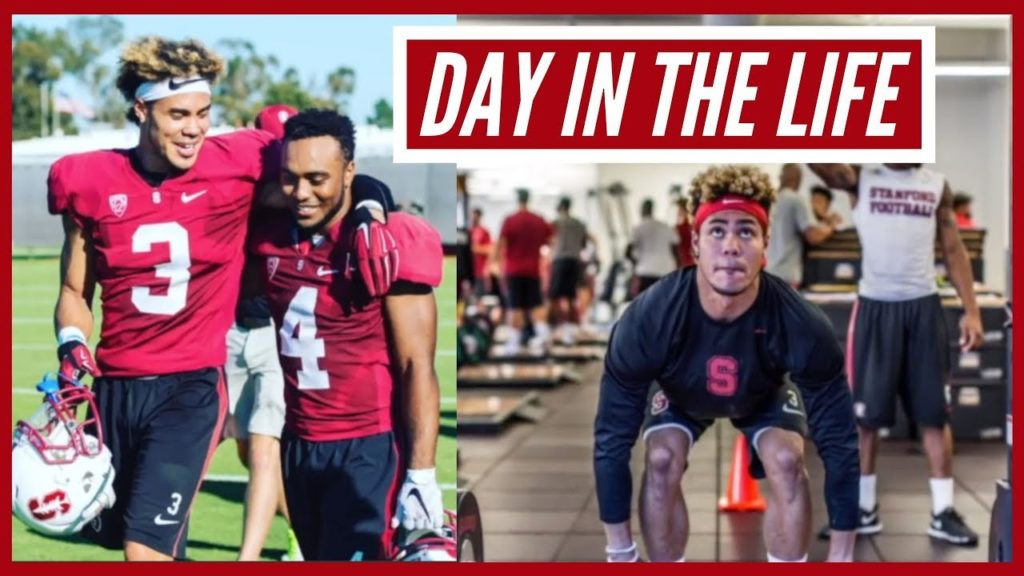 Day in the Life of a College Football Player from Stanford University