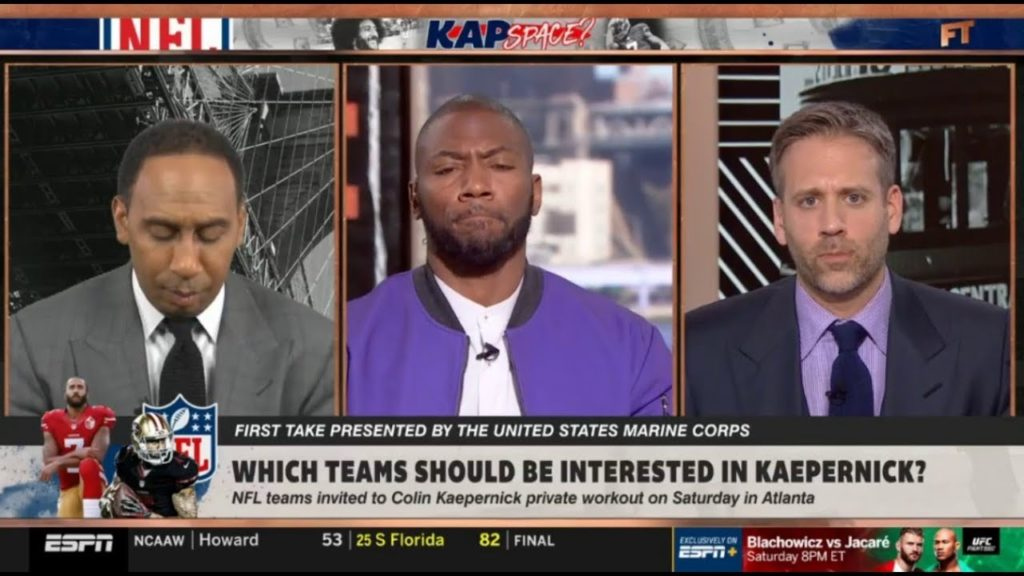 """Stephen A """"heated"""" Seahawks or Packers: Which teams should be interested in Kaepernick? – First Take"""