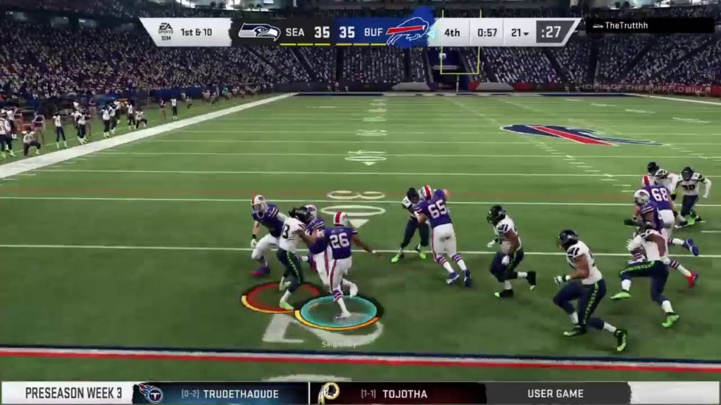 Pre Season 18 – Week 3: Seattle Seahawks vs Buffalo Bills