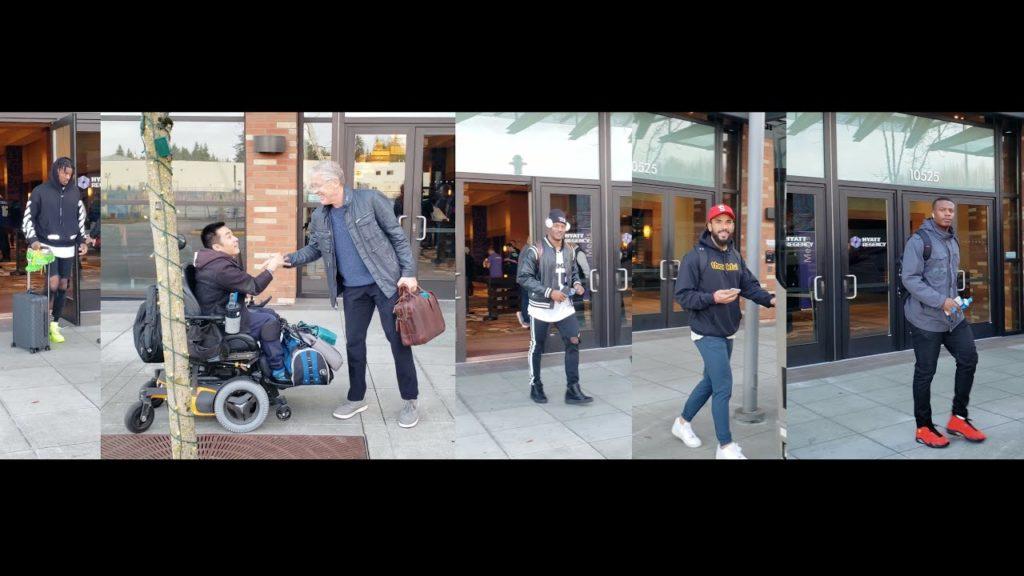 Seattle Seahawks leaving for Monday Night Football Minnesota Vikings 12/02/19