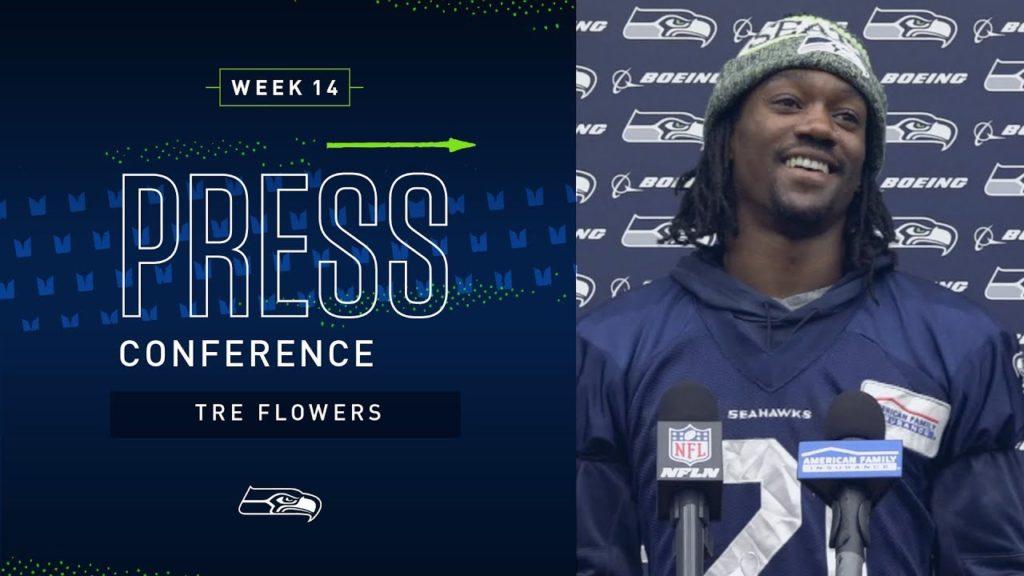 Cornerback Tre Flowers Week 14 Press Conference   2019 Seattle Seahawks