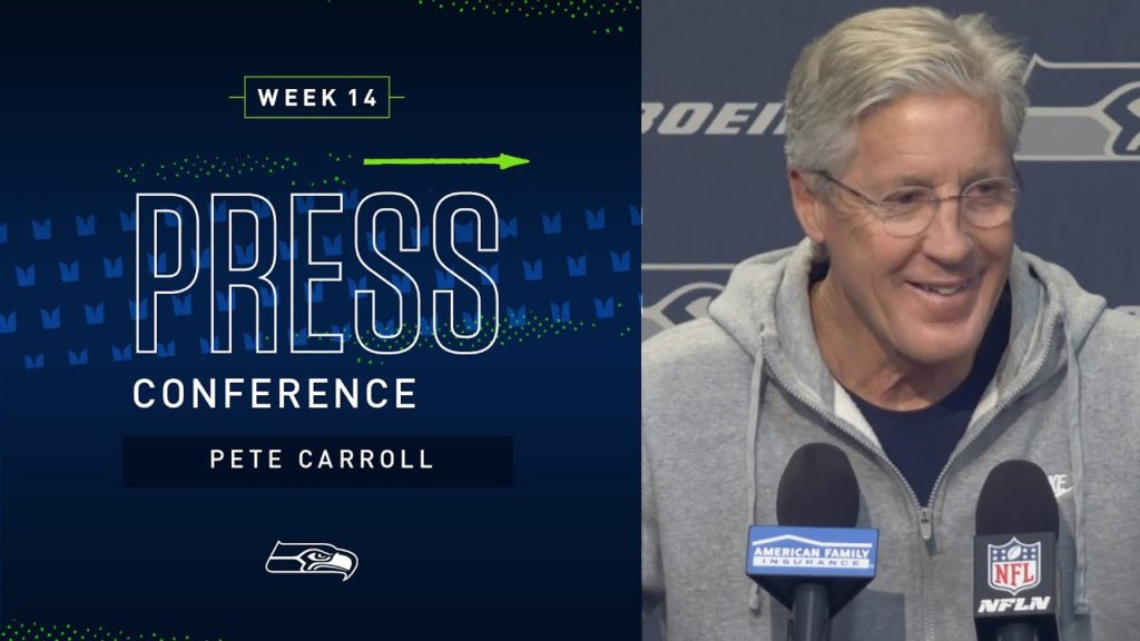 Head Coach Pete Carroll Week 14 Wednesday Press Conference | 2019 Seattle Seahawks
