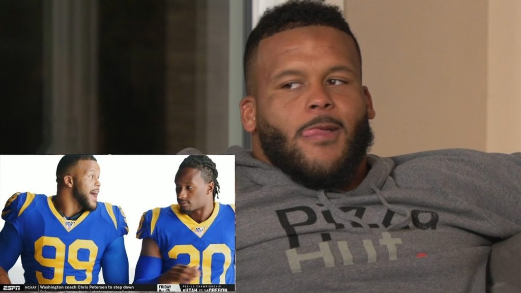 Aaron Donald Hosts MNF Watch Party with Teammates & Comedian Desi Banks!