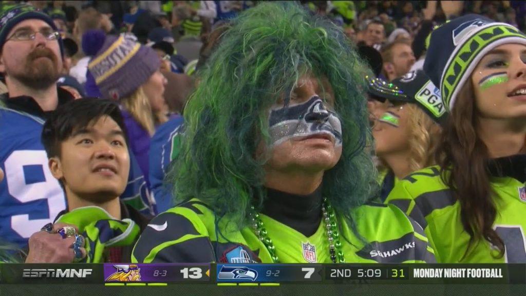Crazy Vikings Pick Six Interception Vs Seahawks