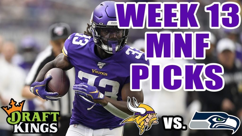 DRAFTKINGS NFL WEEK 13 MNF SHOWDOWN PICKS | MONDAY NIGHT FOOTBALL PICKS (VIKINGS VS. SEAHAWKS)