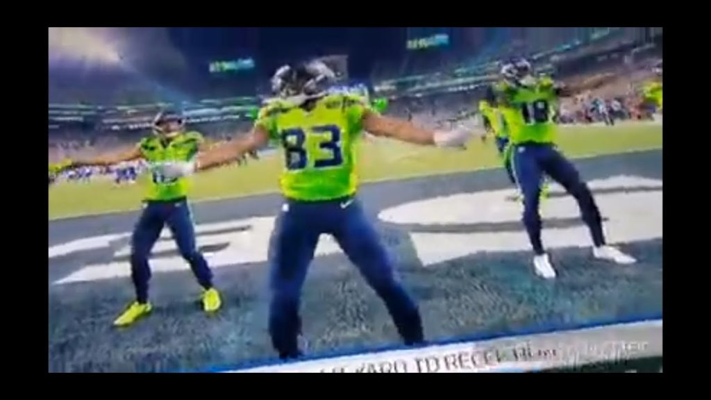 Seattle Seahawks David Moore Touchdown Celebration  Dance