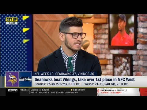 "ESPN GET UP | Dan Orlovsky ""Impressed"" by Seahawks beat Vikings, take over 1st place in NFC west"