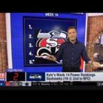 Kyle's Week 14 Power Rankings: 1. Ravens 2. Seahawks 3. 49ers 4. Saints 5. Patriots