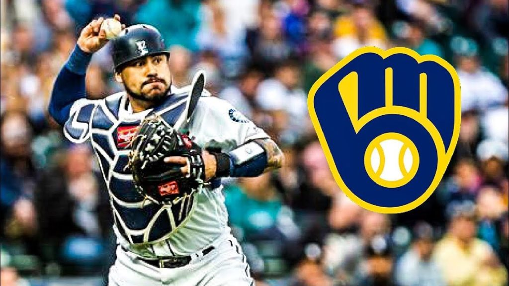 Seattle Mariners traded C Omar Narvaez to Milwaukee Brewers for RHP Adam Hill
