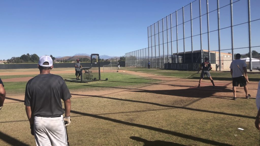 BP with Mariners and Phillies scouts.