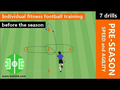 Individual fitness football training before the season | pre-season training speed and agility