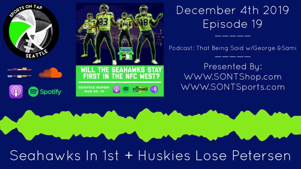 Seahawks Move Into 1st Place In West + Petersen Leaves Huskies | Seattle SuperPod (Ep. 18)