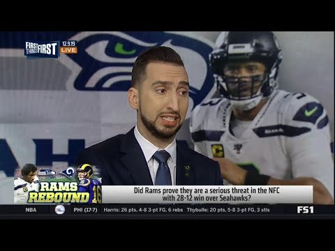 Nick Wright reacts to Seahawks fall to the Rams 28-12, drop to Wild Card