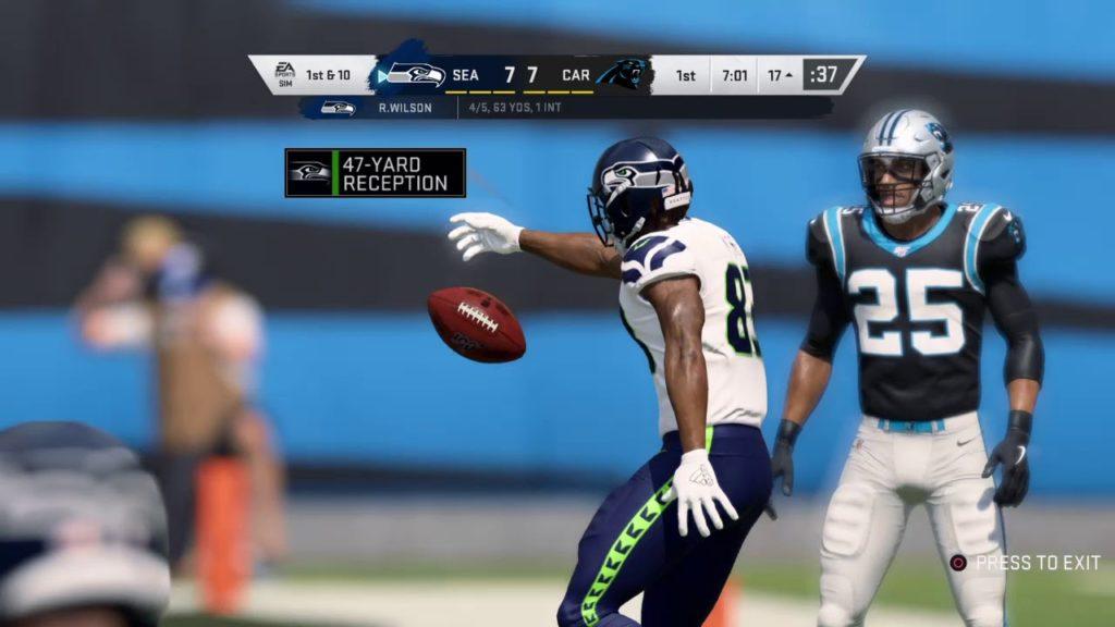 Madden NFL 20 Franchise Mode Week 15 Game 215 (Seattle Seahawks (5-8) vs Carolina Panthers (6-7)