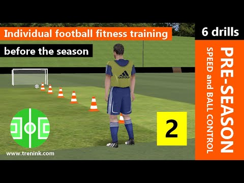 Individual fitness football training before the season #2 | soccer training speed and ball control