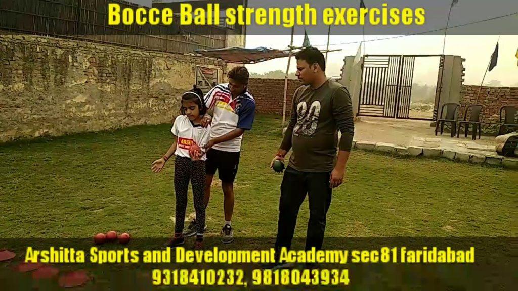 Bocce Ball strength exercises Arshitta sports and Development Academy sec 81 faridabad punto bocci