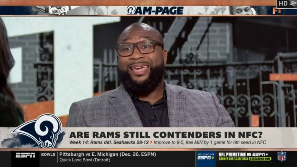 Stephen A. Smith on Week 14: Rams def. Seahawks 28-12 improve to 8-5 | First Take