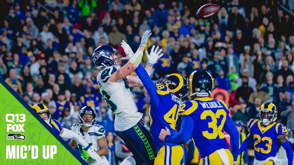 Jacob Hollister Mic'd Up Week 14 at Rams | 2019 Seahawks Saturday Night