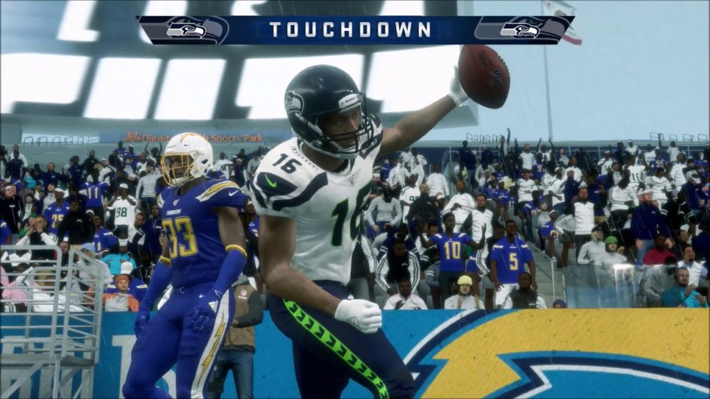 Madden 20 Marshawn Lynch Seattle Seahawks Beast Mode vs Philip Rivers Los Angeles Chargers