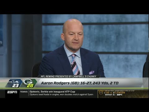 """[BREAKING] Tim Hasselbeck """"STRONG"""" reacts: Packers def. Seahawks 28-23 in NFC Divisional"""