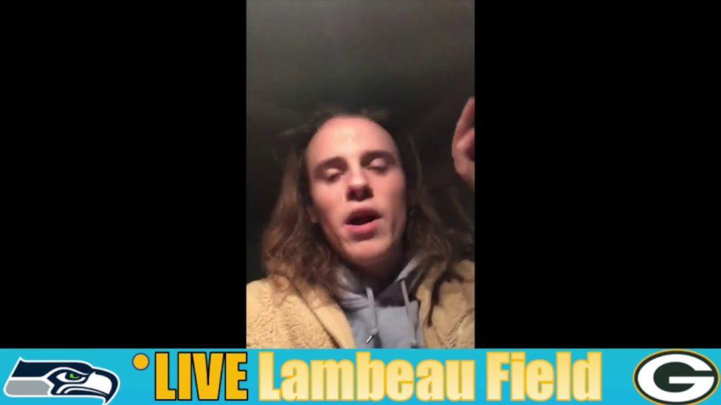 Entering Lambeau last night…PACKERS-SEAHAWKS