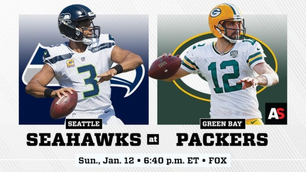 Seahawks vs Packers Divisional Playoff Game Live (4K Stream)