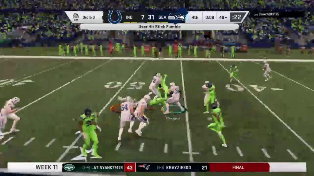 MOF Season 53 Week 11 Colts @ Seahawks