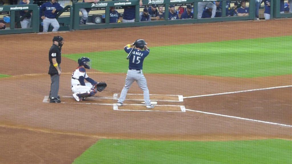 Kyle Seager at bat…Mariners vs. Astros…9/7/19