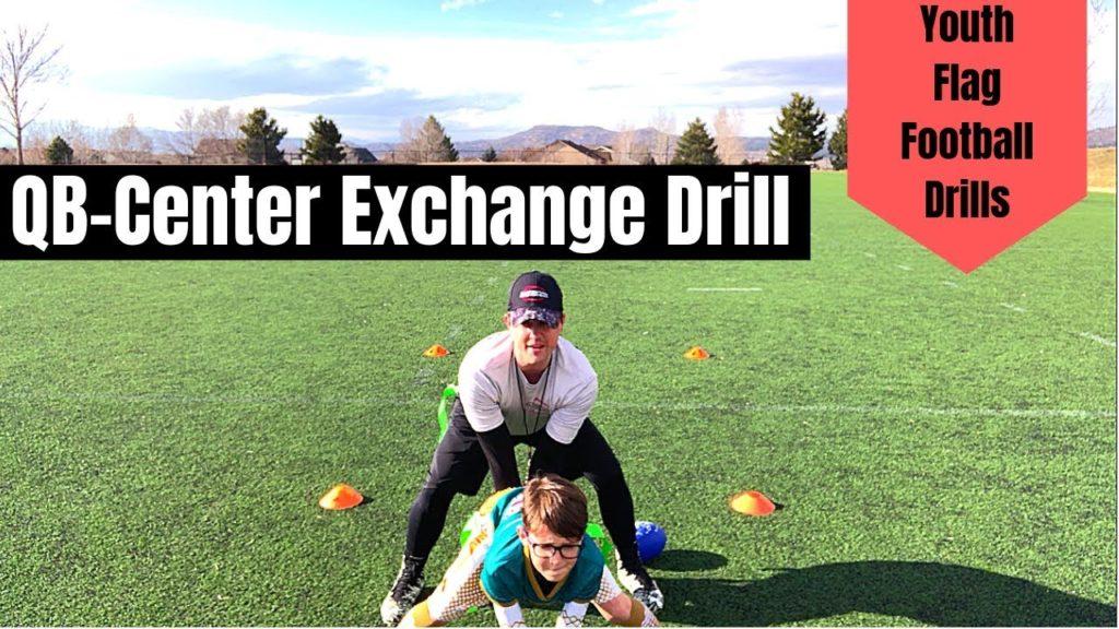 Youth Flag Football Drill | QB – Center Exchange Drill | Beginner Drills