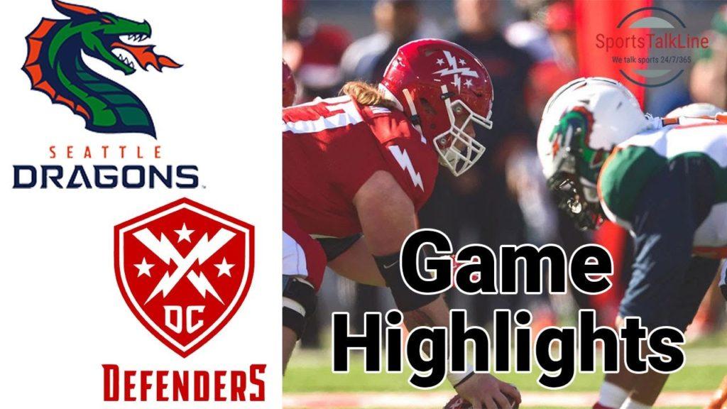 Seattle Dragons vs DC Defenders Highlights | XFL Week 1