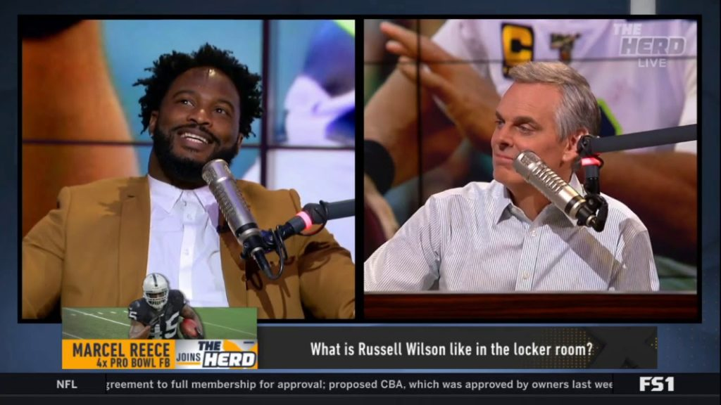 Marcel Reece REACTS TO Reece: Played 9 seasons in NFL (8 with Raiders, 1 with Seahawks)| THE HERD