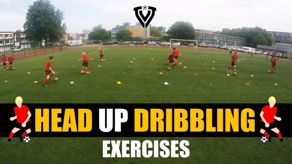 HEAD UP DRIBBLING EXERCISES – 4 VARIATIONS | U8 – U9 – U10 – U11 – U12 – U13 – U14