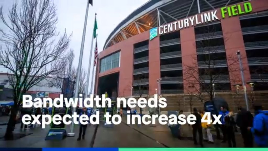 The Seattle Seahawks needed a network / WiFi solution to support bandwidth demands of 70,000+ fans