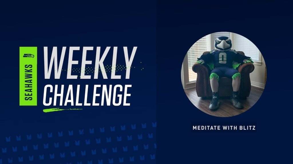 Guided Meditation With Blitz | Seahawks Weekly Challenges