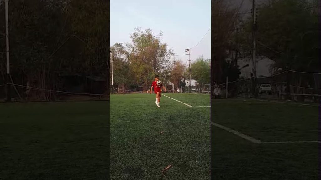 9 Years old play football