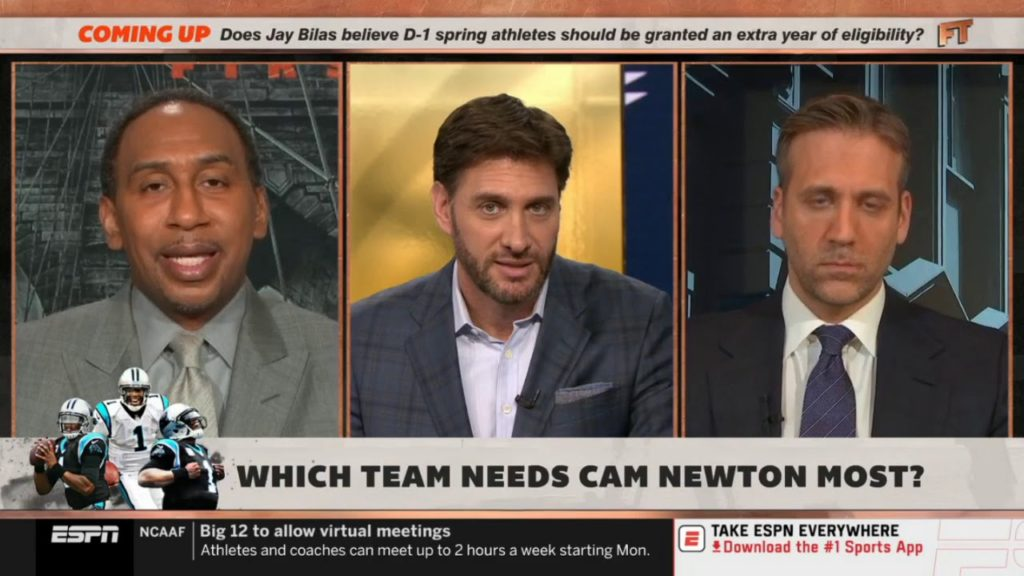"""Stephen A. Smith & Max """"heated debate"""": Which team needs Cam Newton most? Is Patriots?"""