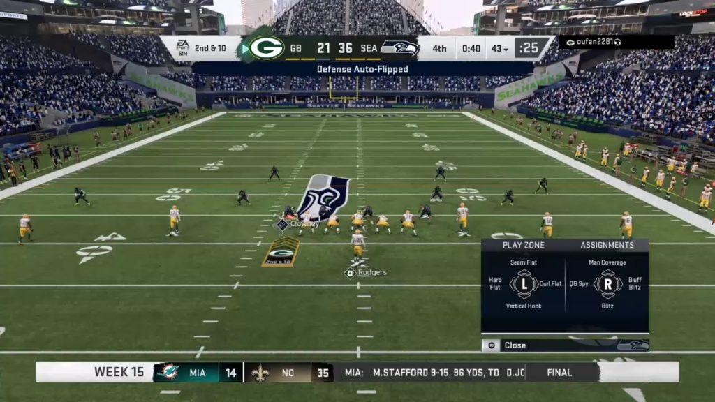 Season 19  – Week 15: Green Bay Packers VS Seattle Seahawks