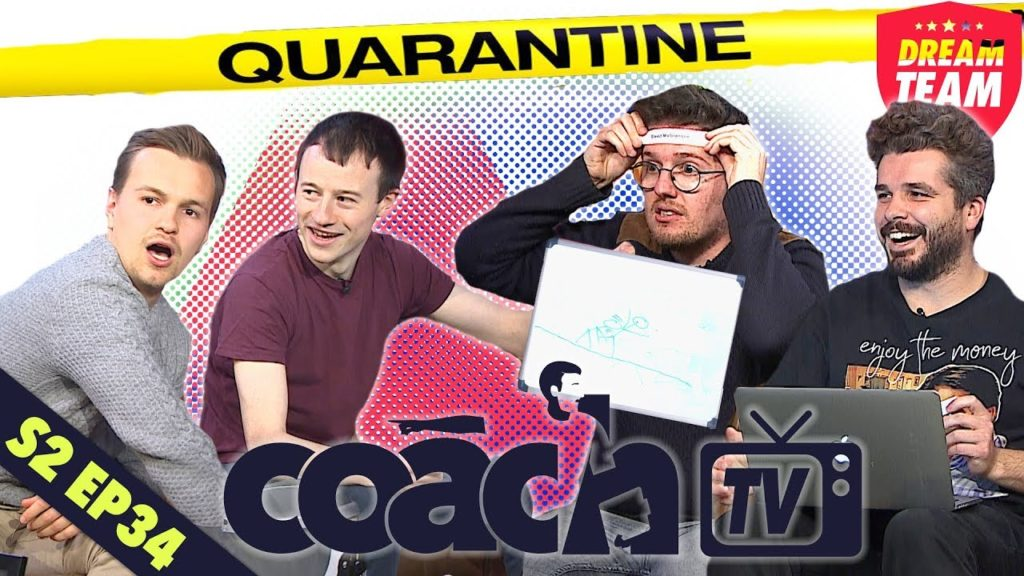 GAMES FOR FOOTBALL FANS TO PLAY IN QUARANTINE | DREAM TEAM COACH TV (SERIES 2 – EPISODE 34)