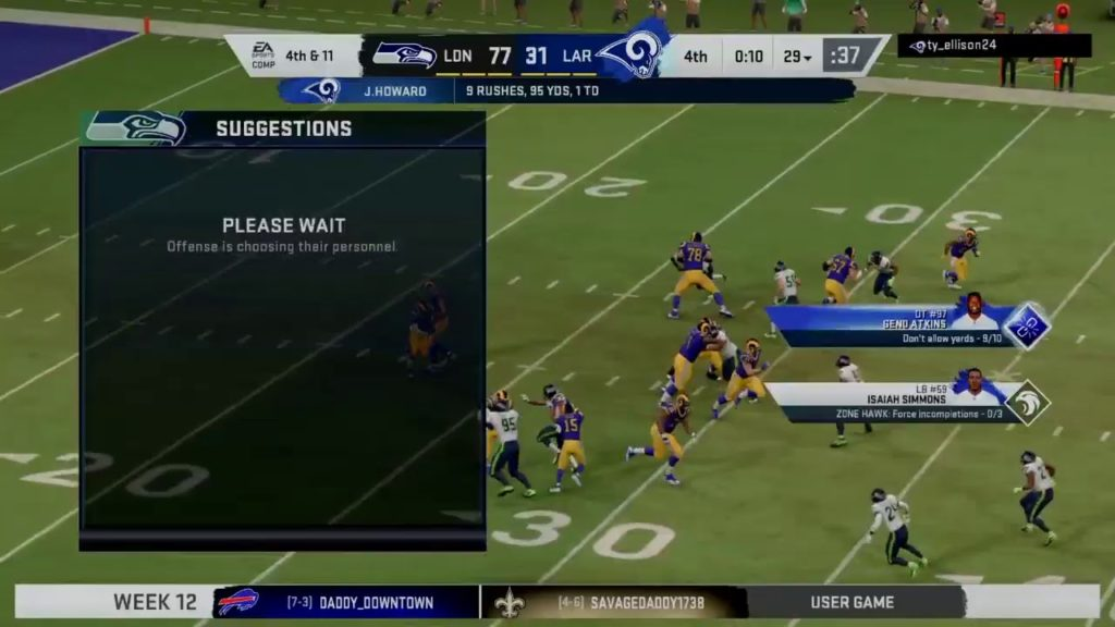 Seahawks VS Rams Rematch