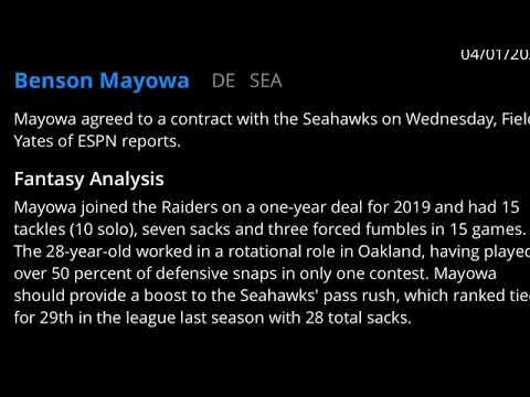 Seattle Seahawks sign DE Benson Mayowa
