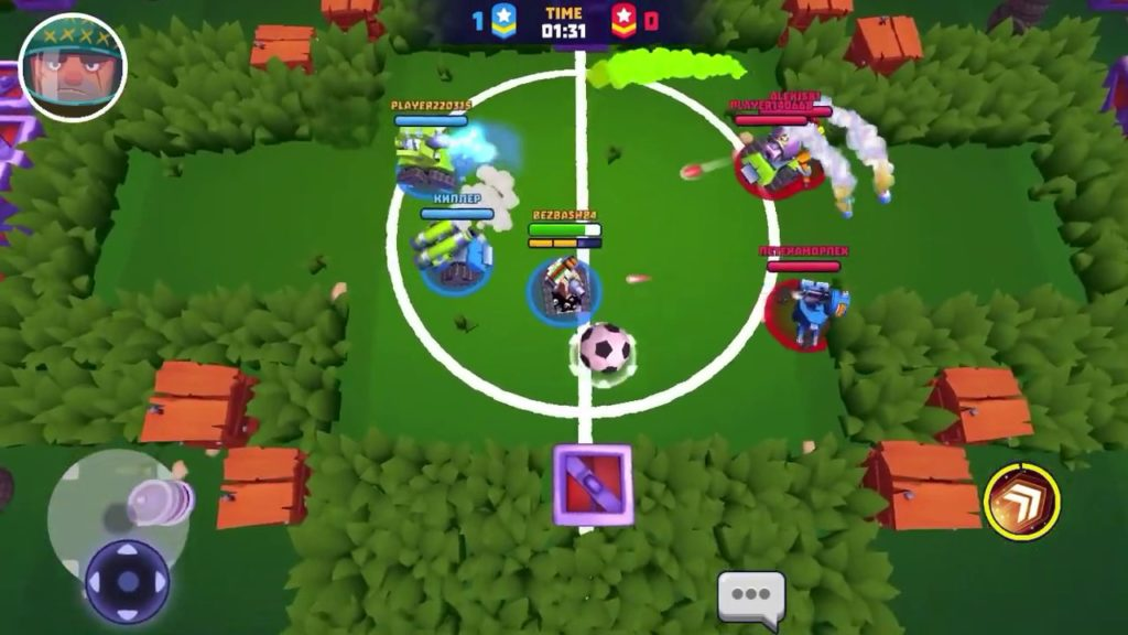 """how to play, using cannon """"HEAVY SHOTGUN"""" in CRAZY FOOTBALL mode.(with settings example) Tanks a Lot"""