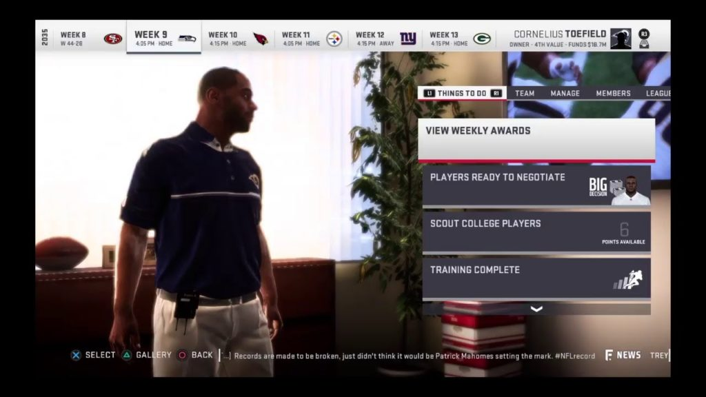 Madden Livestream #13 – Rams Vs Seahawks Week 9; Year 2035 (Madden 19)
