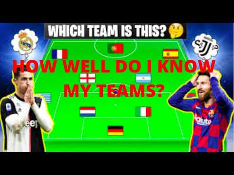 HOW WELL DO I KNOW MY TEAMS?!  |  PLAYING A FOOTBALL QUIZ