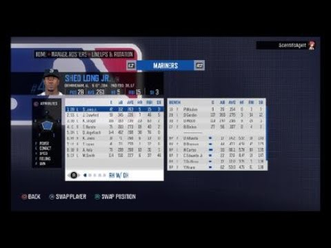 RBI Baseball 20 – Seattle Mariners Roster – All Players Ratings Positions Ages Colleges & Stats