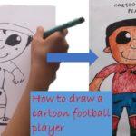 How to draw a Cartoon Football Player | Radoom886