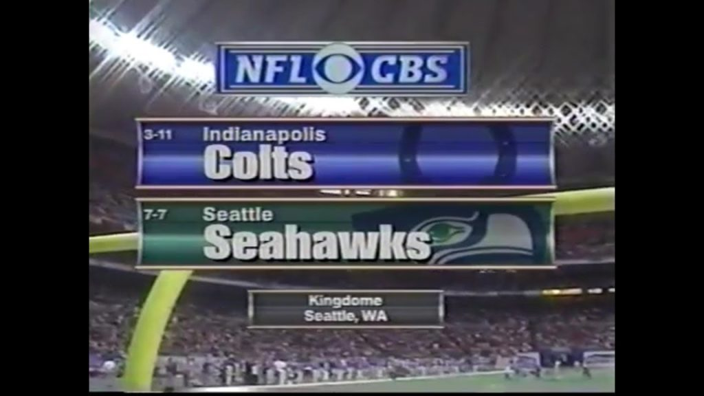 1998-12-20 Indianapolis Colts vs Seattle Seahawks