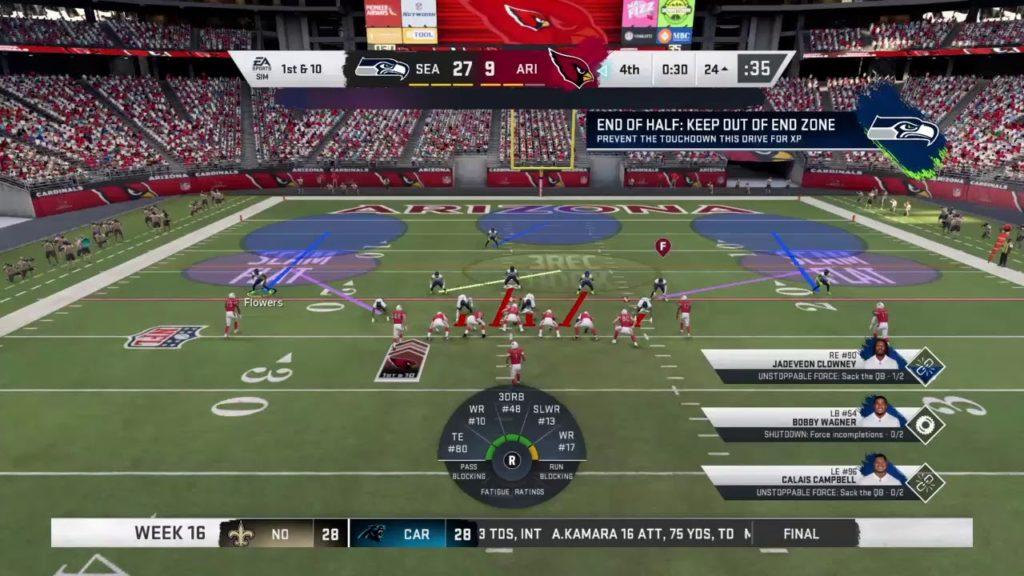Season 19  – Week 16: Seattle Seahawks VS Arizona Cardinals