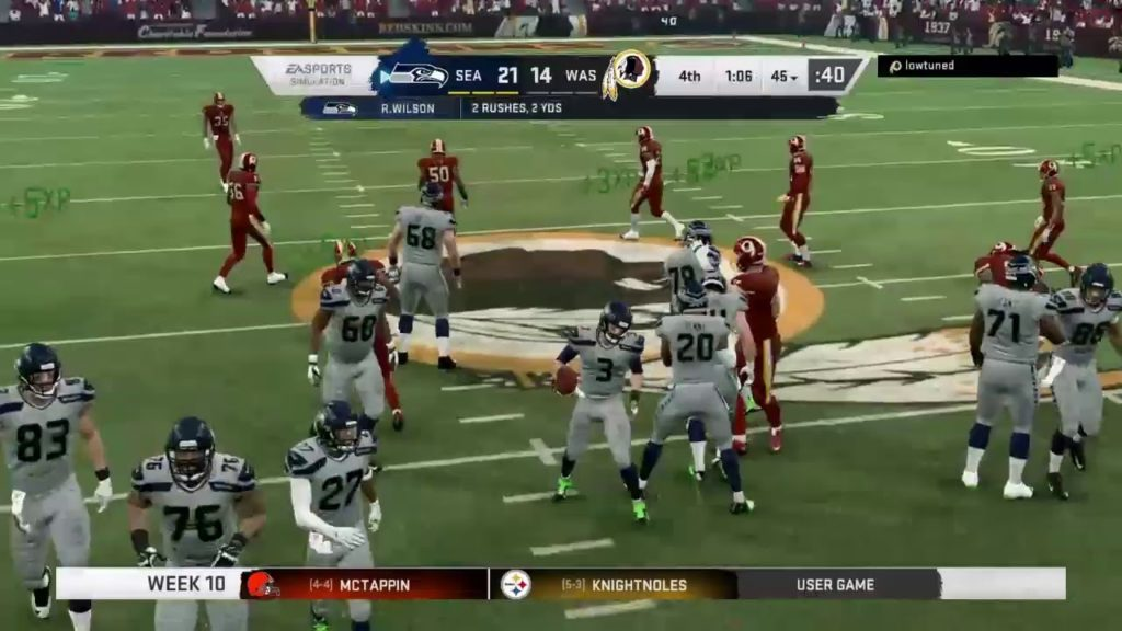 Seahawks vs Skins
