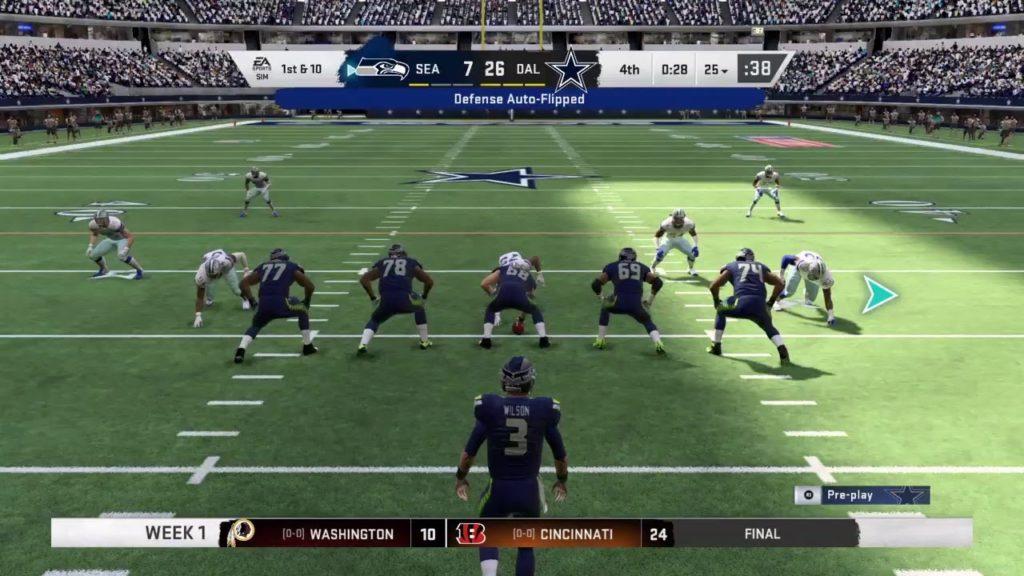 Madden 20 franchise vs seahawks